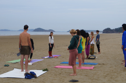 People Doing Yoga at Korea Burn